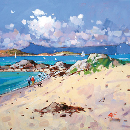 Eigg and Rum from Arisaig - James Orr